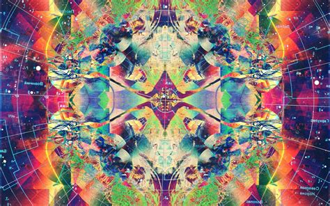 psychedelic abstract colorful symmetry wallpapers hd