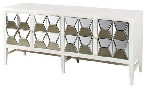 Spike Mirrored Sideboard, White