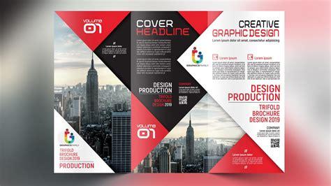 corporate trifold brochure design  template