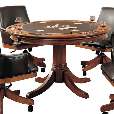flip the table game hillsdale park view round flip top gaming dining table