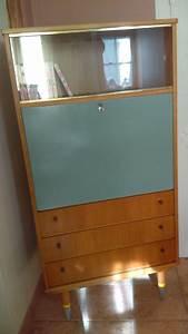 Bureau Secretaire Vintage : secr taire vintage bureau avec sa chaise les vieilles choses ~ Teatrodelosmanantiales.com Idées de Décoration