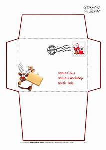 printable letter to santa claus envelope template With christmas letter envelopes