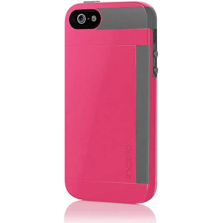 This incipio stowaway was the first wallet type case in bought for the iphone 6. Incipio Stowaway Credit Card Wallet Case for Apple iPhone 5/5S - Pink/Gray - Walmart.com