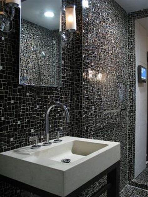 black and white bathroom ideas gallery 26 black sparkle bathroom tiles ideas and pictures