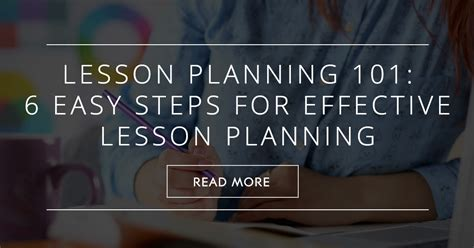 lesson planning   easy steps  effective lesson