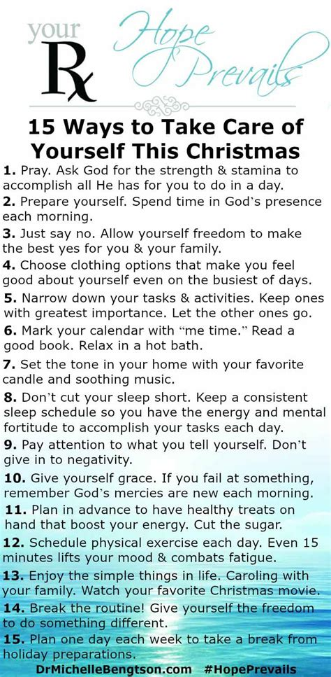 15 ways to take care of yourself this christmas dr