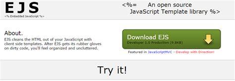 ejs template bosan koding html cobalah html template engine the power of