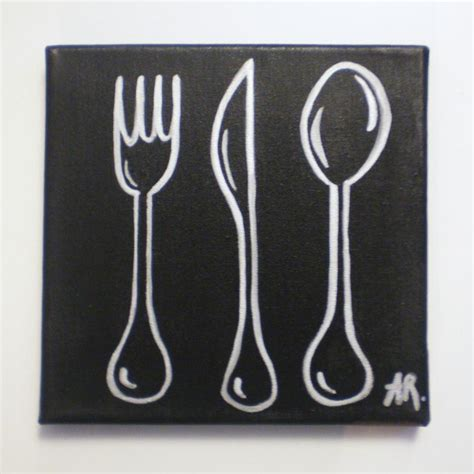 peinture acrylique cuisine tableau avec peinture acrylique déco cuisine silver cook