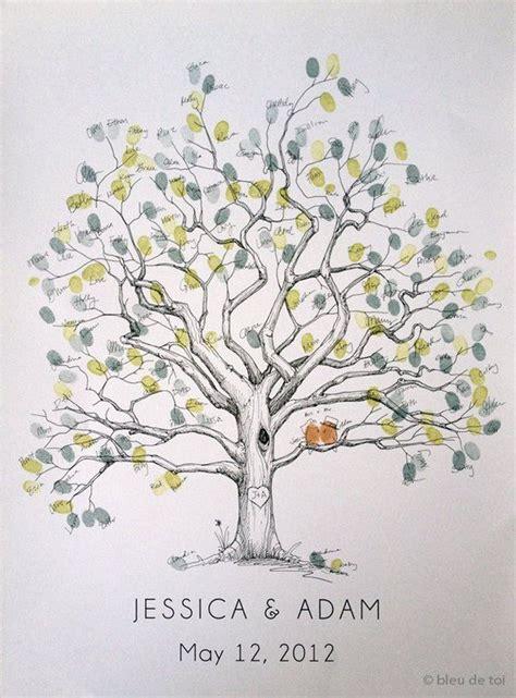 wedding guest book alternative fingerprint tree  size