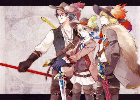 musketeers zerochan anime image board