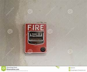 Fire Alarm Manual Pull Station Stock Image