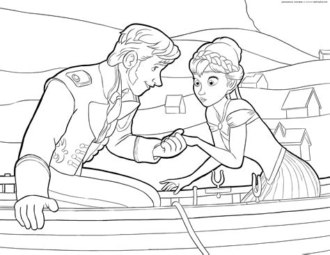 Frozen Coloring Pages, Animated Film Characters