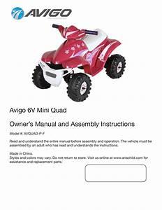 Avigo 6v Mini Quad Owner U2019s Manual And Assembly
