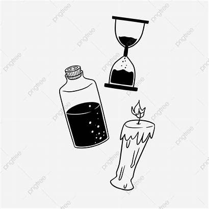 Gambar Jam Hitam Pasir Dan Tingkatkan Botol