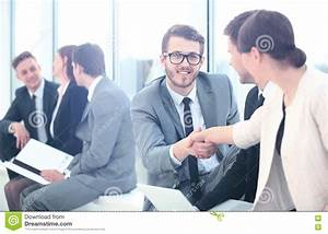Business People Meeting Discussion Corporate Handshake ...