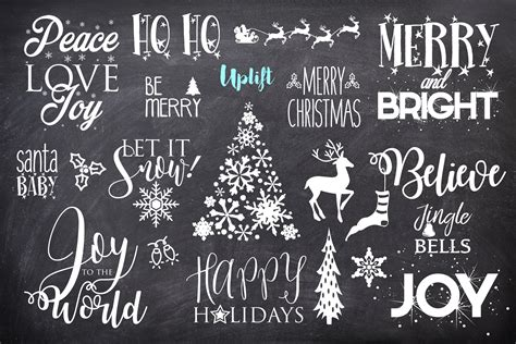 merry bright christmas overlays photoshop add ons creative market