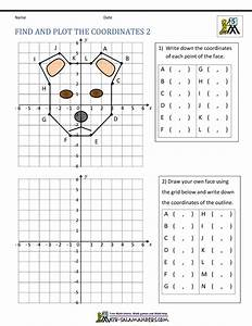 Coordinate Plane Worksheets - 4 quadrants