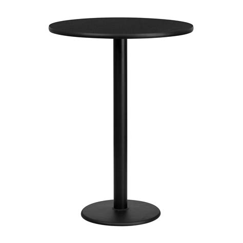 round bar height table flash furniture round bar height restaurant pub table