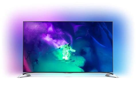 Tv 4k Philips Ambilight Ultraflacher 4k Ultra Hd Tv Powered By Android 55pus9109 12 Philips