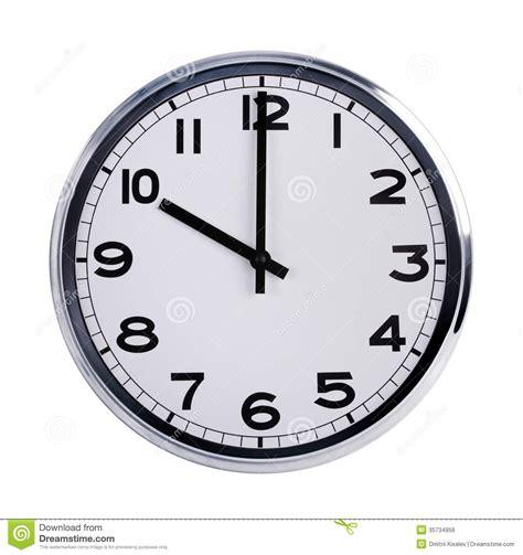heures de bureau l 39 horloge ronde de bureau montre dix heures image libre de
