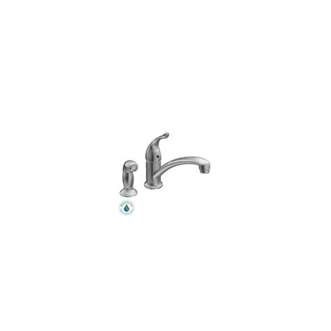 moen 7437 chrome single handle kitchen faucet with side