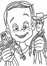 Toy Story Coloring Pages Printables Printable Andy sketch template