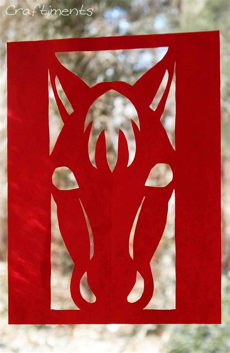 year   horse paper cutting fun family crafts