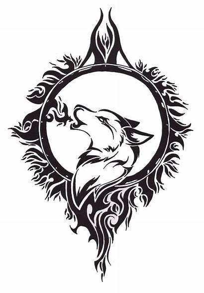 Wolf Celtic Tattoo Howling Tattoos Askideas Drawings