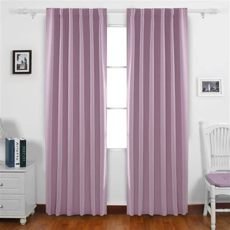 Tab Drapes - deconovo rod pocket and back tab blackout curtains thermal