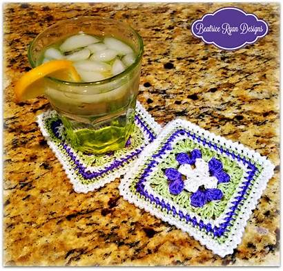 Crochet Pattern Coaster Sweet Beatriceryandesigns