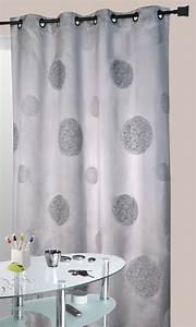 Rideau Salon Gris : rideau gris en shantung brod ronds m l s gris ~ Teatrodelosmanantiales.com Idées de Décoration