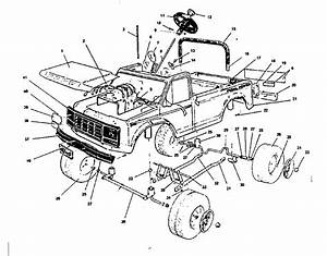 Pickup Truck Body Parts Diagram Sketch Coloring Page