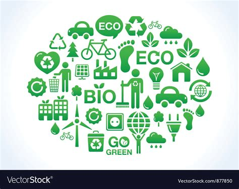 Eco Friendly World- Icons Set Royalty Free Vector Image