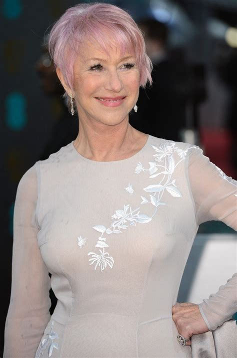 Helen Mirren Dyes Her Hair Pink