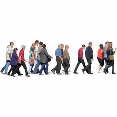 Walking Crowd Photoshop Psd Away Newdesignfile Via