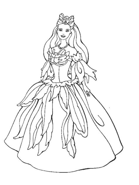 barbie princess coloring pages   print barbie princess coloring pages