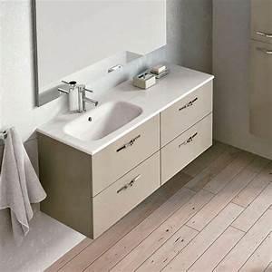 Meuble Tiroir Salle De Bain : meuble salle de bain 120 cm 4 tiroirs play ~ Teatrodelosmanantiales.com Idées de Décoration