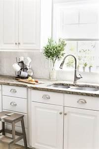 kitchen back splashes DIY Pressed Tin Kitchen Backsplash - Bless'er House