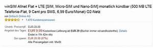 Winsim Rechnung : winsim allnet flat lte 6 99 euro ~ Themetempest.com Abrechnung
