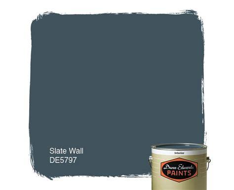 dunn edwards paints blue paint color slate wall de5797