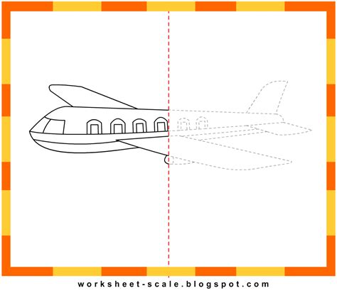 free printable drawing worksheets for aeroplane