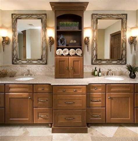 master bathroom cabinet ideas his and 39 s master bathroom vanity with sinks and