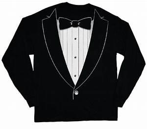 long sleeve t-shirt for men tuxedo tee shirt tux wedding ...