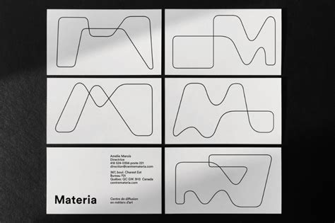 materia branding  images business card design