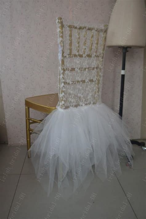 2017 2016 custom made tulle lace chair covers