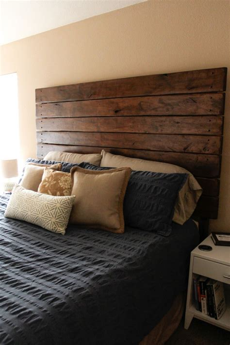 easy diy wood plank headboard    fun ideas