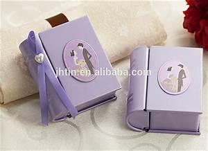 mini book shape metal christmas gift boxes wedding invi With mini booklet wedding invitations