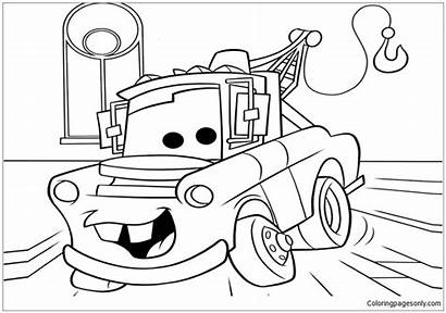 Cars Disney Pages Coloring Drawing Cool Printable