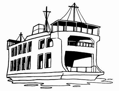 Feri Clipart Gambar Putih Hitam Kenderaan Kartun