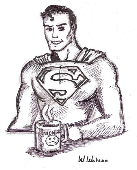 supermans monday cartoon drawing fan art